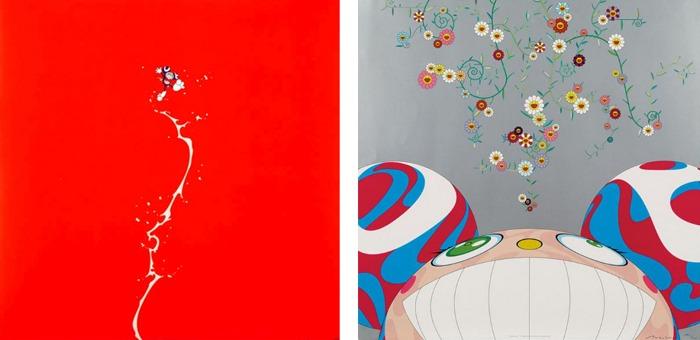 Takashi Murakami-Doves and Hawks, DOB Flower-2001