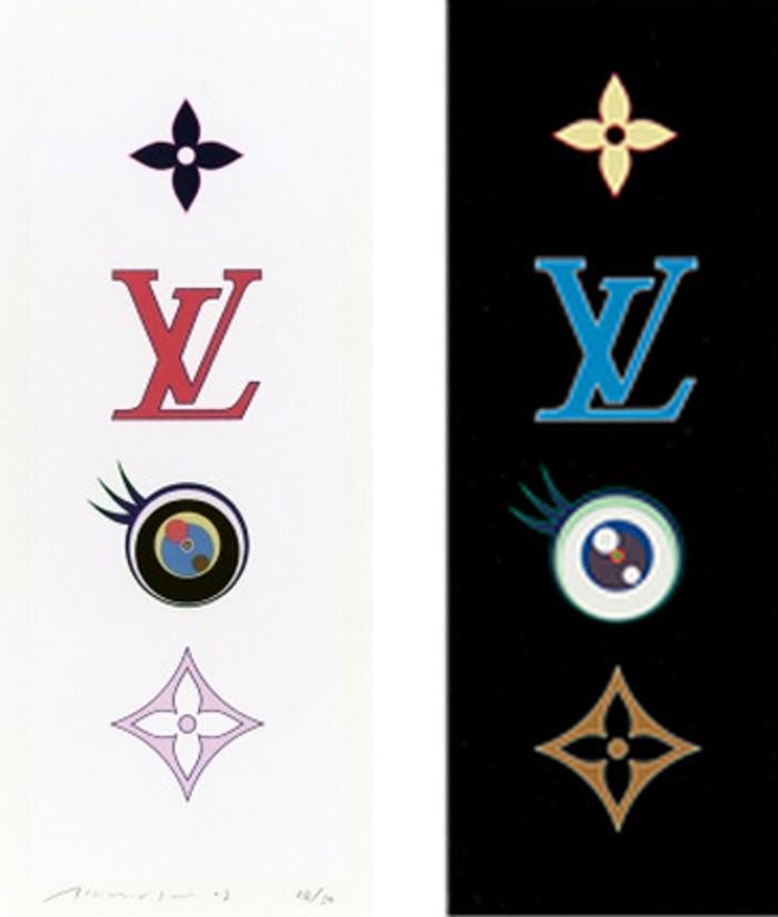 Takashi Murakami-Eye Love SUPERFLAT (Eye Pink, Eye Blue)-2003