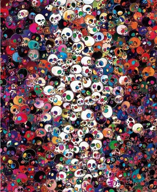Takashi Murakami-Fates Hushed Approach, My Hushed Laughter-2011