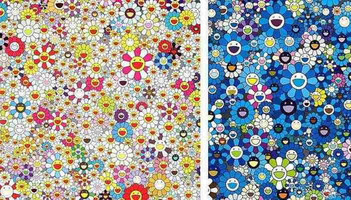 Takashi Murakami-Field of Smiling Flowers, An Homage to IKB 1957 D-2012