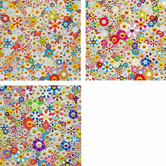 Takashi Murakami-Field of Smiling Flowers, Flowers In Heaven, If I Could Reach That Field of Flowers I Would Die Happy-2010