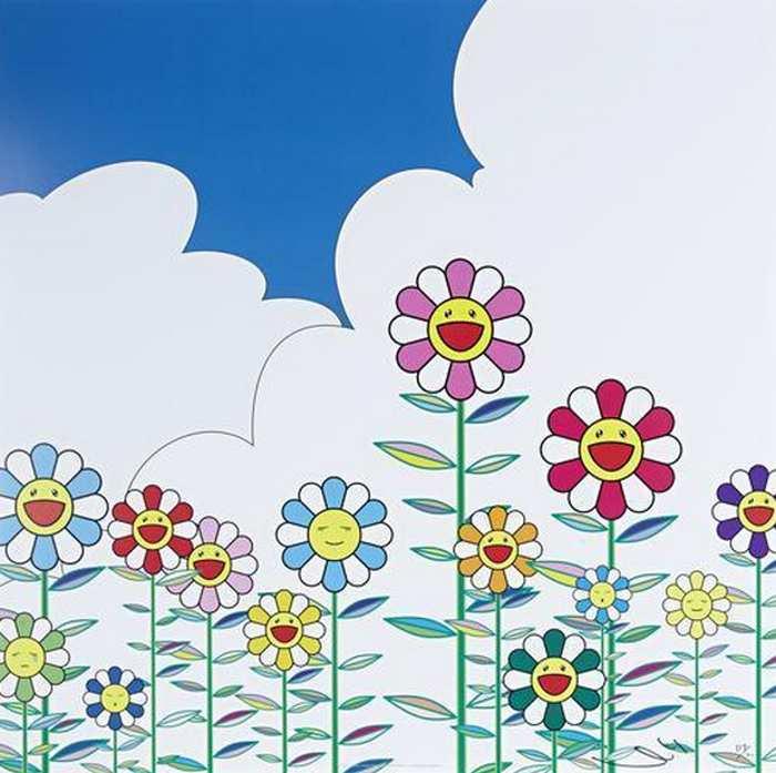 Takashi Murakami-Flower 2-2002
