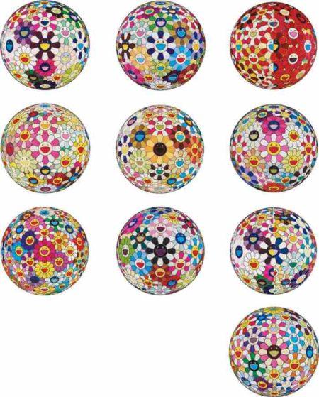 Takashi Murakami-Flower Ball (10 Works)-2010
