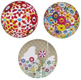 Takashi Murakami-Flower Ball (3D), Flower Ball (3D) Goldfish Colors, Floating Camping-2011