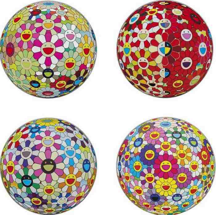 Takashi Murakami-Flower Ball (3D), Flowerball Cosmos (3D), Flowerball Margaret (3D), Flowerball Red (3D) The Magic Flute-2011