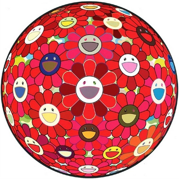Takashi Murakami-Flower Ball (3D) Red Cliff-2010