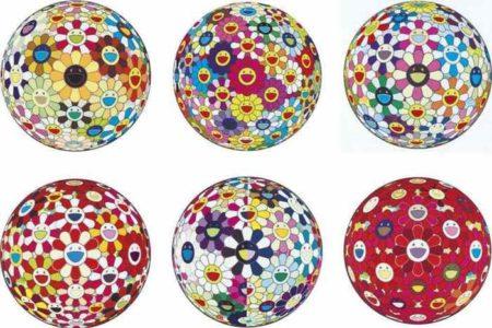 Takashi Murakami-Flower Ball (3D) Sunflower; Flower Ball (3-D); Flower Ball (3D) Cosmos; Flower Ball (3D) Goldfish Colors; Flower Ball (3D) From the Realm of the Dead; Flower Ball (3D) Red Cliff-