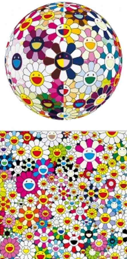 Takashi Murakami-Flower Ball 3D from the Realm of the Dead, Maiden In The Yellow Straw Hat-2010