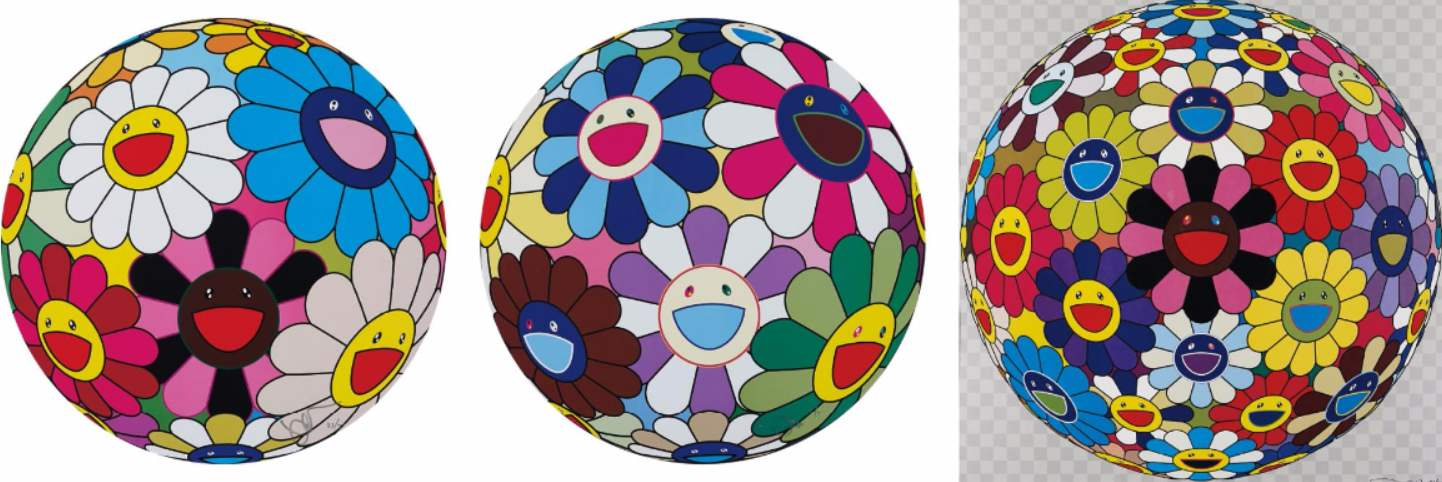Takashi Murakami-Flower Ball (Algae Ball), Flower Dumpling, Flower Ball (Kindergarten Days)-2013