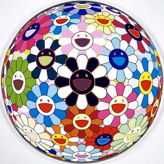 Takashi Murakami-Flowerball Blood (3D)-2007