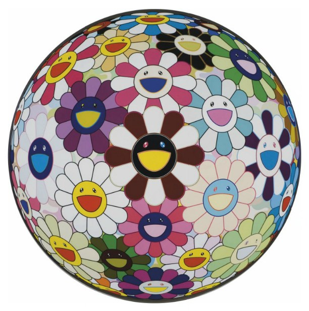 Takashi Murakami-Flower Ball (Brown)-2007
