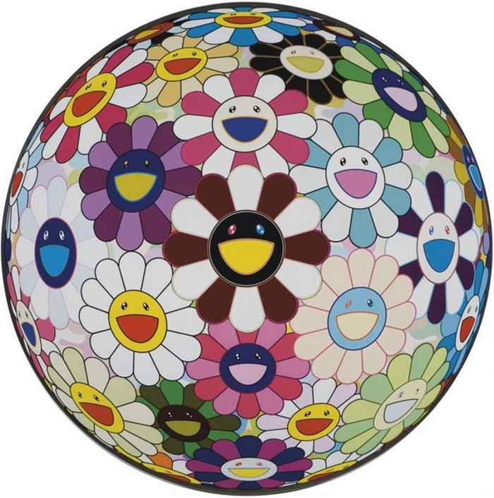 Takashi Murakami-Flower Ball Brown-2010