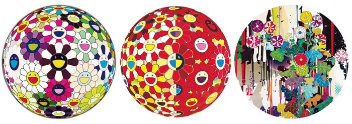 Takashi Murakami-Flower Ball Brown, Flower Ball (3D) The Magic Flute, I Recall The Time When My Feet Lifted Off The Ground Ever So Slightly-Korin-Chrysanthemum-2010