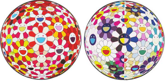 Takashi Murakami-Flower Ball Goldfish (3D), Flower Ball from the Realm of the Dead (3D)-2009