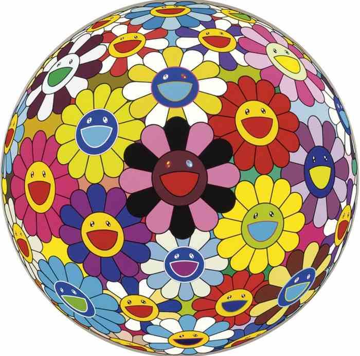 Takashi Murakami-Flower Ball (Kindergarten Days)-2002