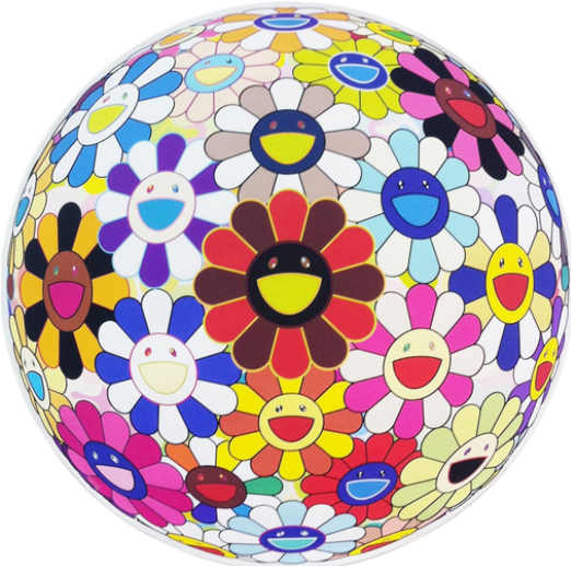 Takashi Murakami-Flower Ball (Lots of Colors)-2013