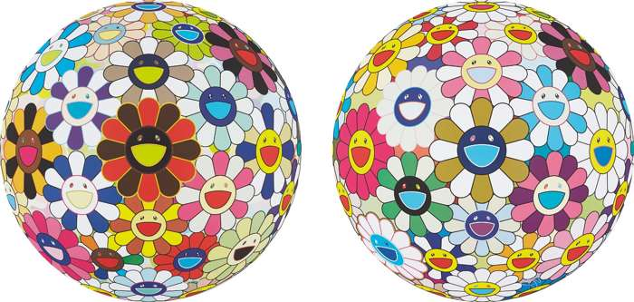 Takashi Murakami-Flower Ball (Lots of Colors); and Flower Ball (3-D) Autumn 2004-2013