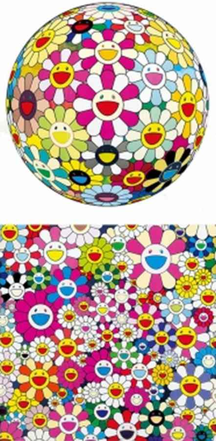 Takashi Murakami-Flower Ball Margaret (3D), Flower Smile-2011