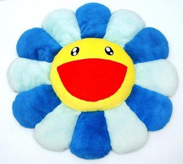 Takashi Murakami-Flower Cushion Blue (large)-2005
