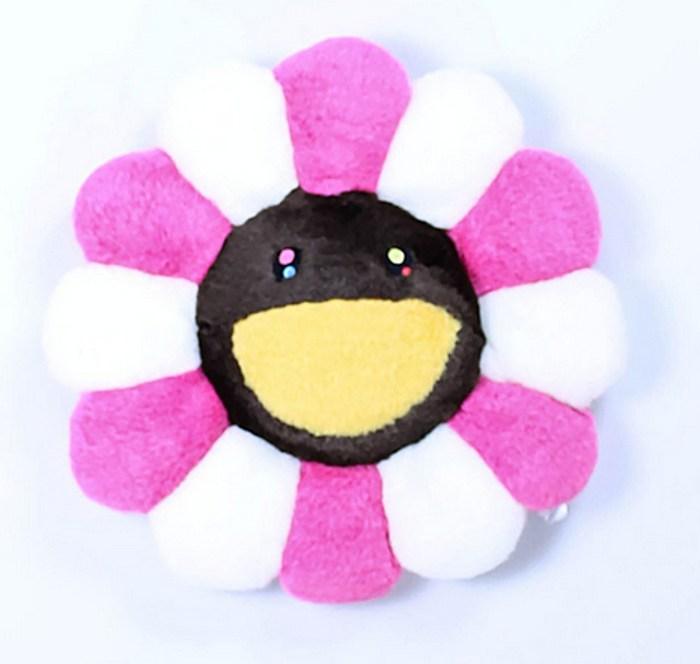 Takashi Murakami-Flower Cushion Pink and Brown-