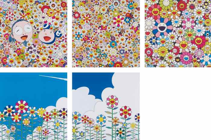 Takashi Murakami-Flower, Flower 2, Me And Mr. DOB, Field of Smiling Flowers, Such Cute Flowers-
