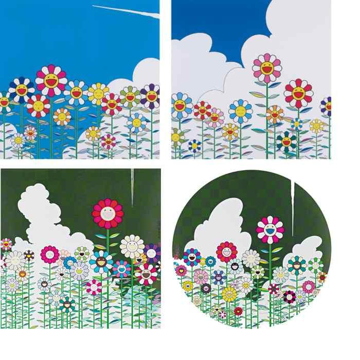 Takashi Murakami-Flower, Flower 2, Warm and Sunny, Floating Campsite-2011