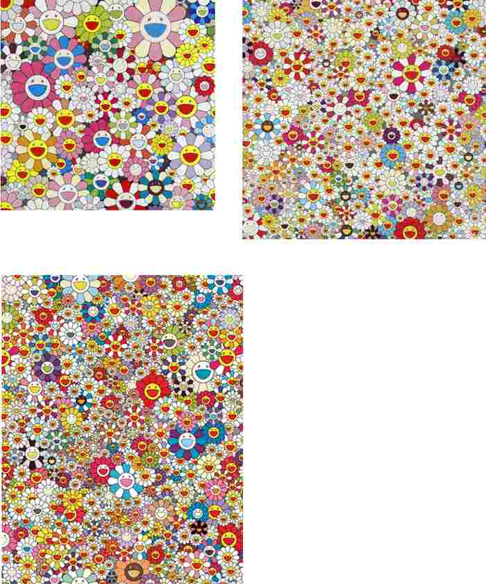 Takashi Murakami-Flower Smile, Field of Smiling Flowers, Poporoke Forest-2011
