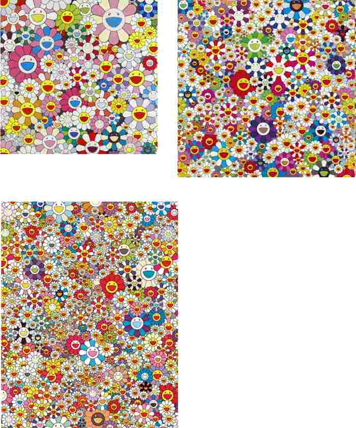 Takashi Murakami-Flower Smile, If I Could Reach That Field Of Flowers I Would Die Happy, Poporoke Forest-2011