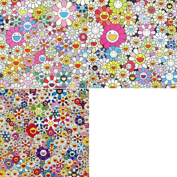 Takashi Murakami-Flower Smile; If I could Reach That Field of Flowers, I would Die Happy; Flowers from the Village of Ponkotan-2011