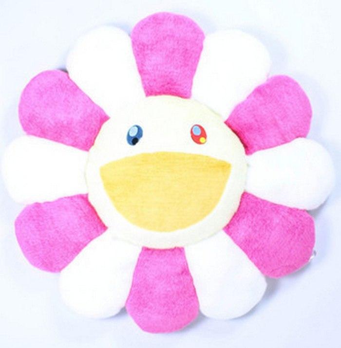 Takashi Murakami-Flower Cushion Pink and Yellow-