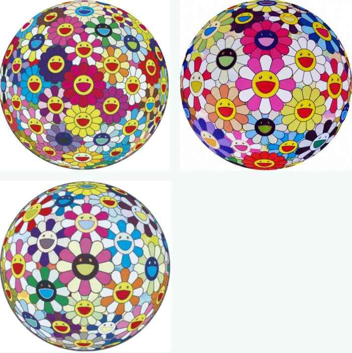 Takashi Murakami-Flowerball (3D), Flowerball Pink, Flowerball Cosmos (3D)-2008