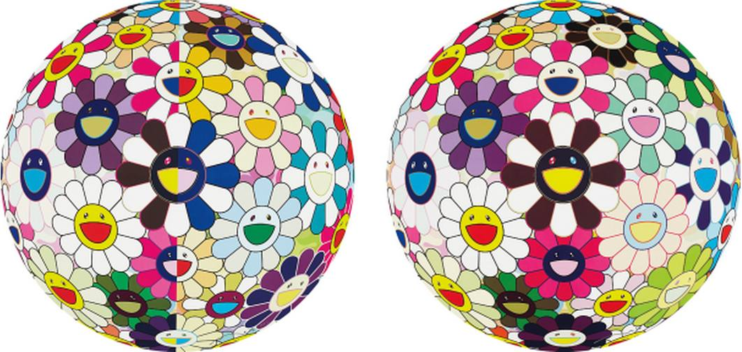 Takashi Murakami-Flowerball Brown, Flowerball (3D) From the Realm of the Dead-2009