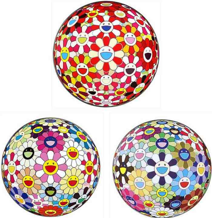 Takashi Murakami-Flowerball Goldfish Colors (3D), Flowerball Pink, Flower Ball (3D) Kindergarten-2011