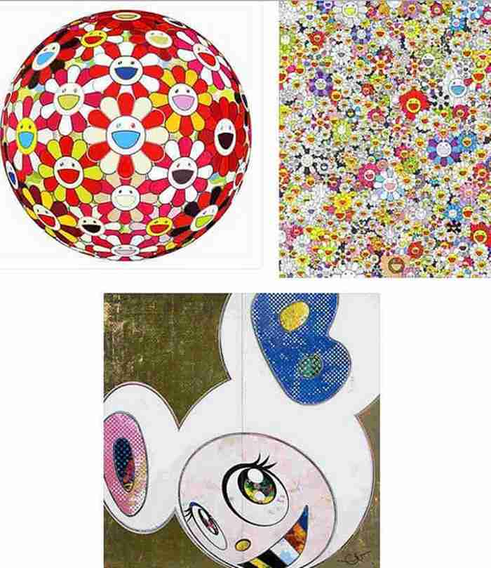 Takashi Murakami-Flowerball Goldfish Colors (3D), Poporoke Forest, DOB in Pure White Robe (Pink & Blue)-2013