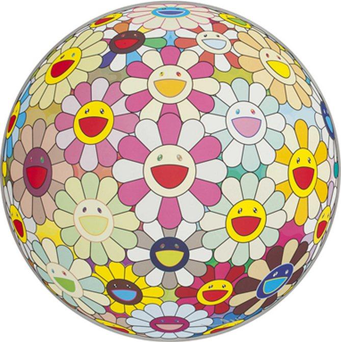 Takashi Murakami-Flowerball Margaret 3D-2011