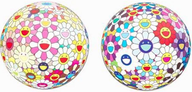 Takashi Murakami-Flowerball Margaret (3D); Flowerball sequoia sempervirens (3D)-2013