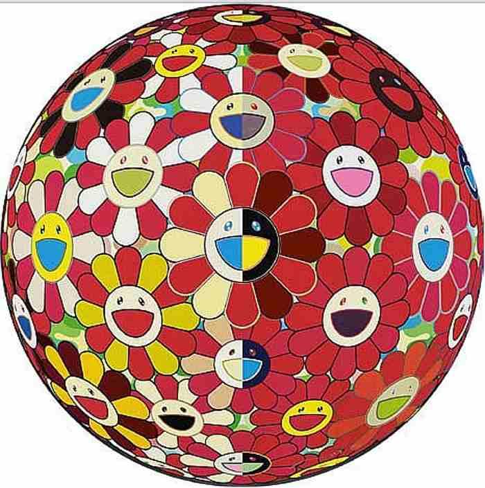 Takashi Murakami-Flowerball Red-2011