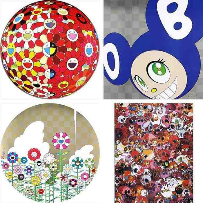 Takashi Murakami-Flowerball Red (3D) The Magic Flute, And then... (Blue), Floating Campsite, MCRST-2011