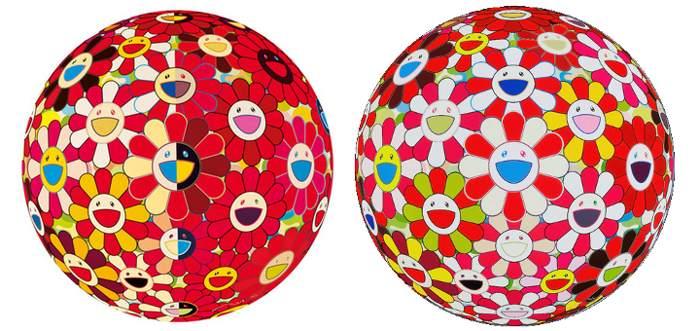 Takashi Murakami-Flowerball Red 3D The Magic Flute, Flower Ball 3D-2008