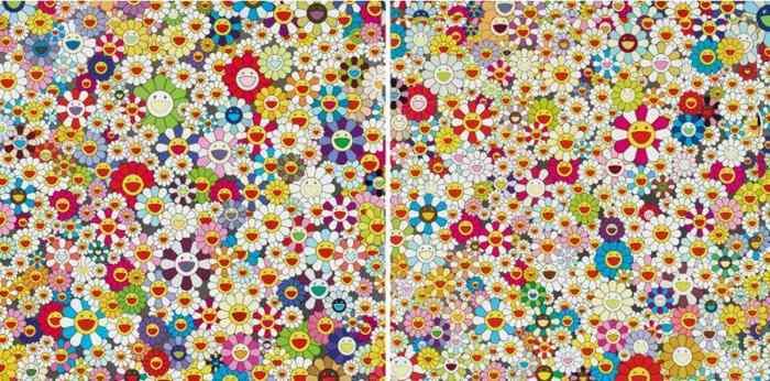Takashi Murakami-Flowers, Flowers, Flowers; Field of Smiling Flowers-2010