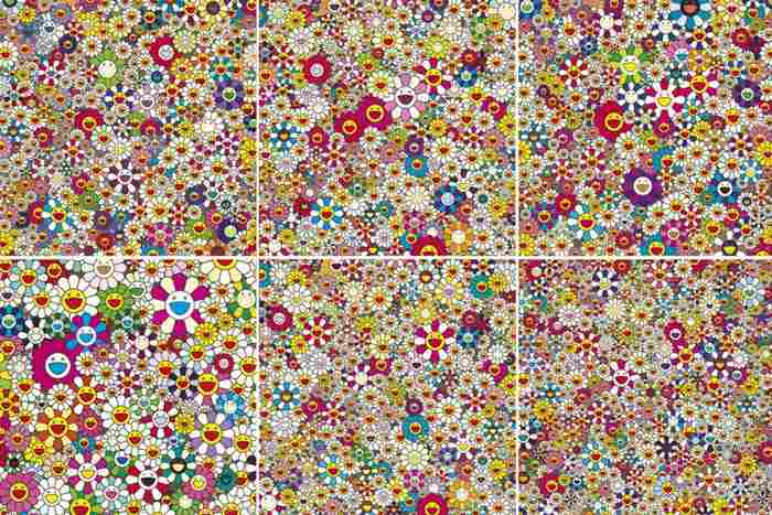 Takashi Murakami-Flowers... , Flowers In Heaven, Field of Smiling Flowers, Open Your Hands Wide Embrace Happiness, Maiden In The Yellow Straw Hat, If I Could Reach That Field of Flowers, I Would Die Happy-2010
