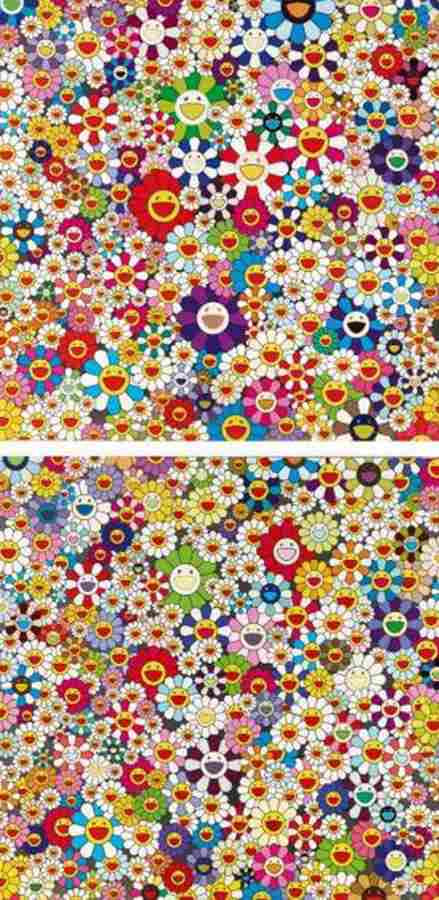 Takashi Murakami-Flowers, Flowers, Flowers, If I Could Reach That Field Of Flowers I Would Die Happy-2010