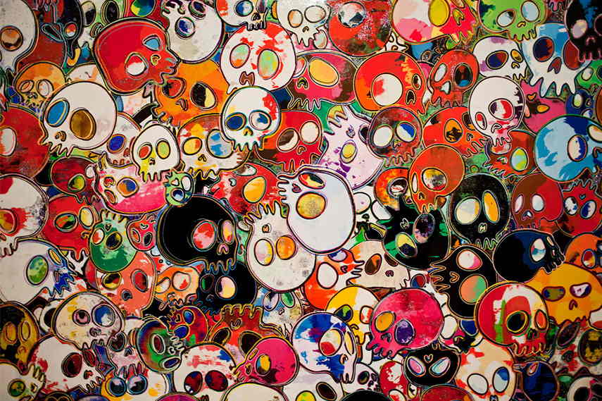 Takashi Murakami - Flowers and Skulls, 2012