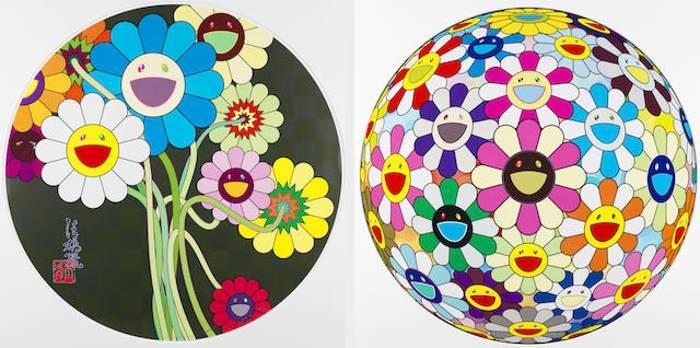 Takashi Murakami-Flowers for Algernon; Flower Ball Cosmos (3D)-2010