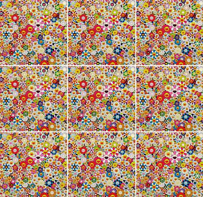 Takashi Murakami-Flowers in Heaven (Set of 9)-2010