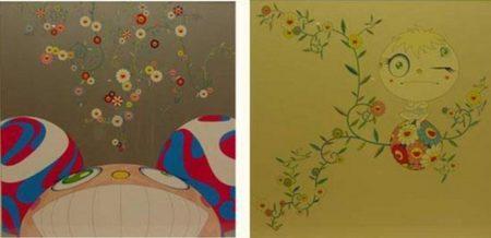 Takashi Murakami-Genki Ball, DOB Flower-2001