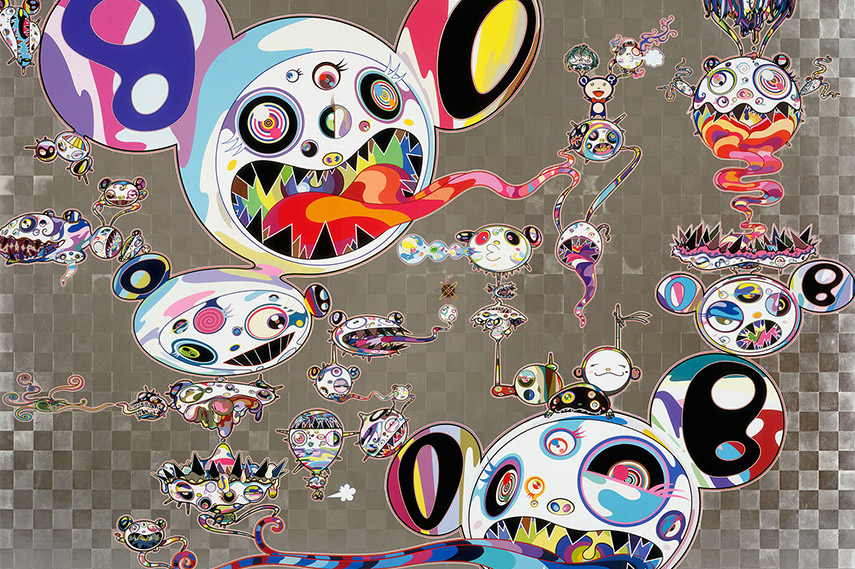 Takashi Murakami open  sculptures