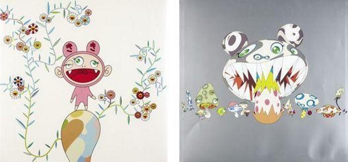 Takashi Murakami-Here comes Media, Kiki with Moss-2004