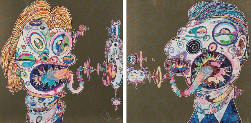 Takashi Murakami - Homage to Francis Bacon, 2016