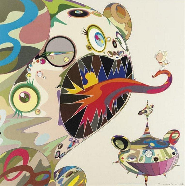 Takashi Murakami-Homage to Francis Bacon (Study of George Dyer)-2003